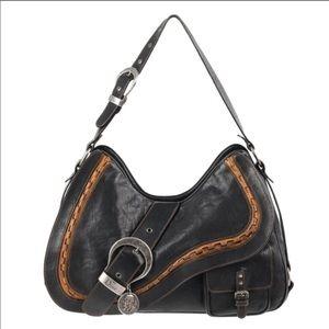 Doir Black Tan Double Gaucho Double Saddle Bag.